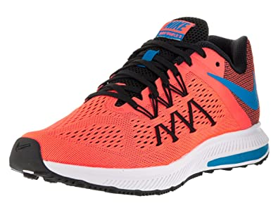 2016 The new style Nike Women's Zoom Winflo 3 Running Shoe Bright Mango/Bl Glow/Blk/White 831562 800