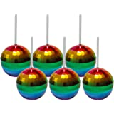 Six Rainbow Disco Ball Cups - Set of Six