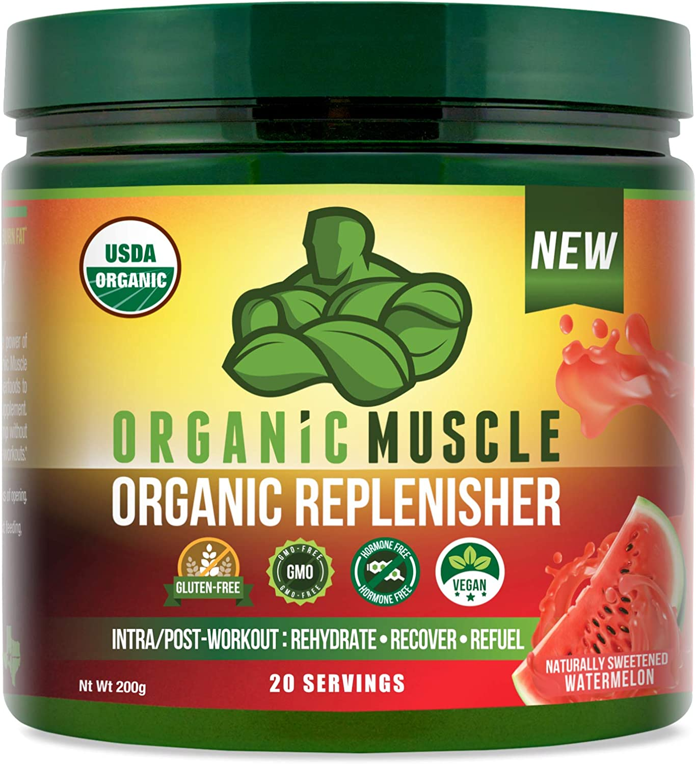Organic Muscle Post Workout & Intra-Workout Vegan Recovery Drink