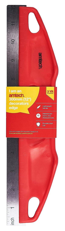 G0992 AmTech 30cm Decorators Edge Metal Ruler Wallpaper Painting Straight Tool