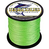 HERCULES Cost-Effective Super Strong 4 Strands Braided Fishing Line 6LB to 100LB Test for Salt-Water, 109/328 / 547/1094…