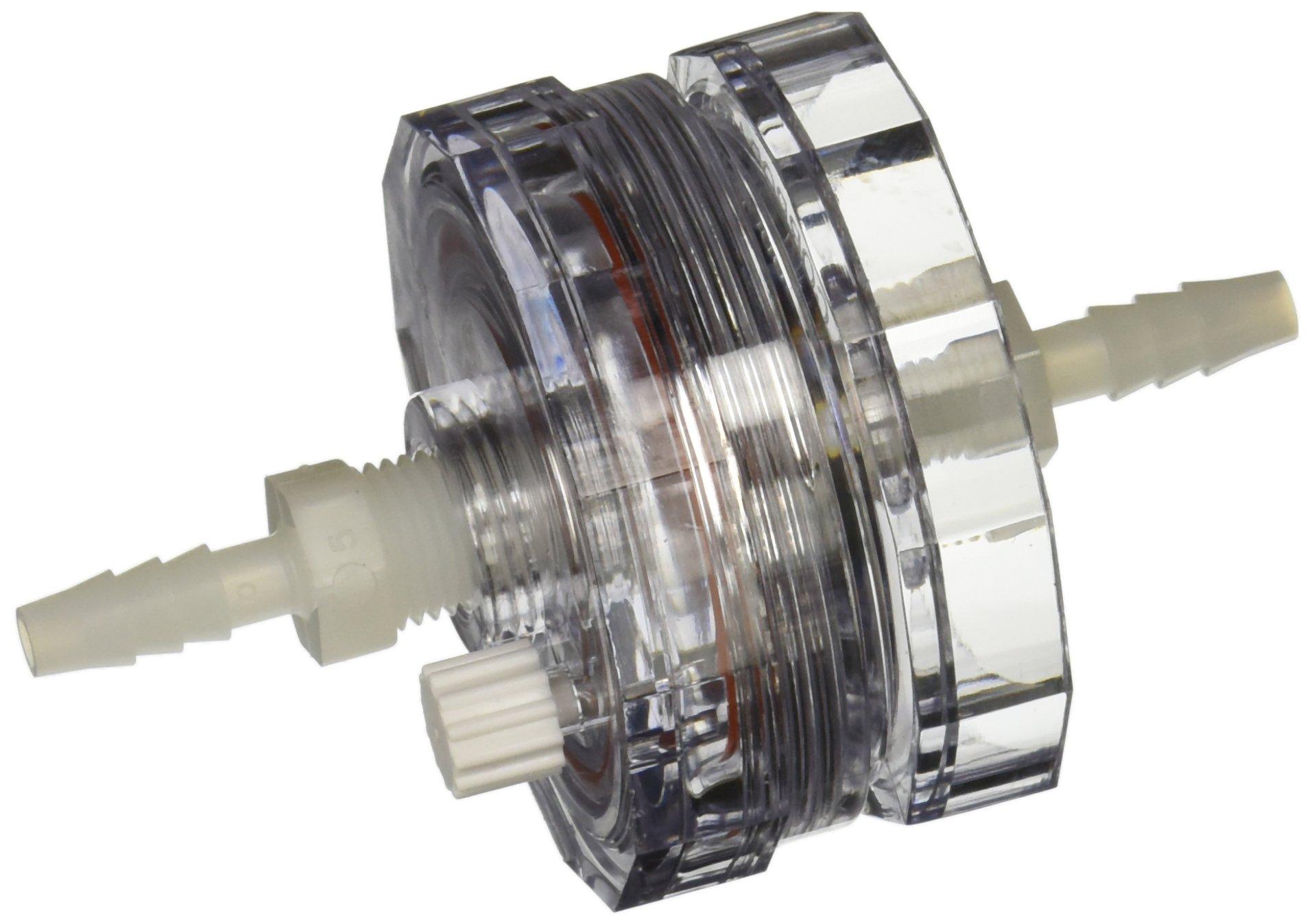 PALL 1119 Polycarbonate in-Line Filter Holder for 47 mm Filter Disc, Non-Sterile, 3.4 bar Maximum Operating Pressure, 5.8 cm Length x 6.4 cm Diameter