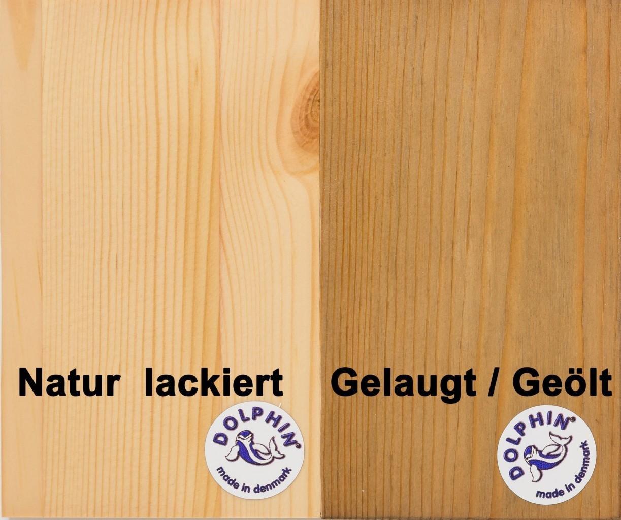 Bücherregal Regal Holzregal 80 cm breit Kiefer massiv, Farbe:natur ...