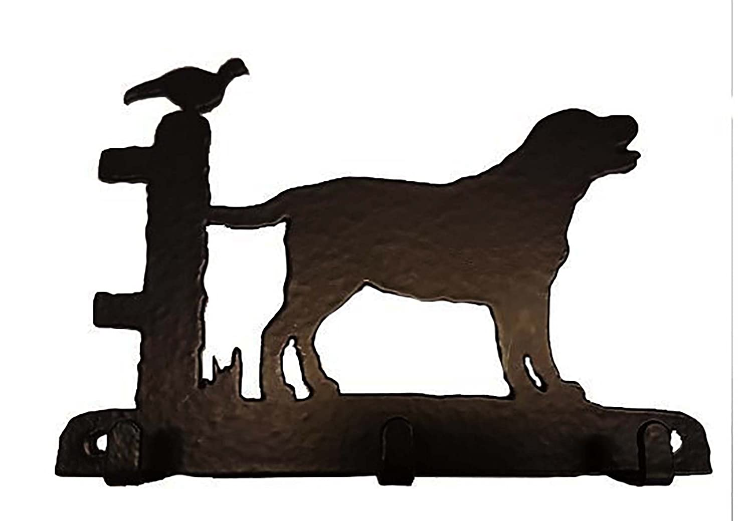 Hungarian Vizsla Lovers Gift – KEY RACK - Ironwork silhouette Dog Shaped Key Rack – Unique quality hand made 3 Hook Key / Lead Rack Quality Home Products