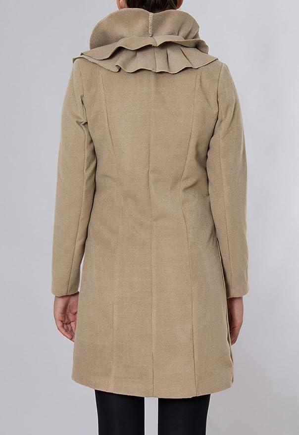 CASPAR Damen langer Winter Volant Mantel Wollmantel MADE IN ITALY - viele  Farben - MTL003  Amazon.de  Bekleidung 4ea5c1494d