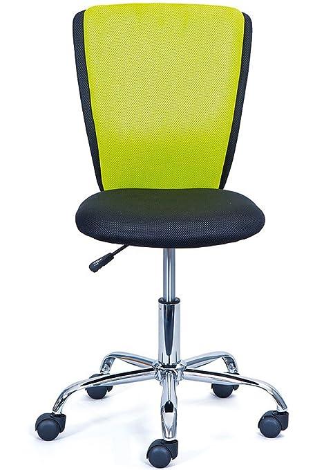 Pegane Chaise De Bureau En Chrome Et Ployester Coloris Noir Vert
