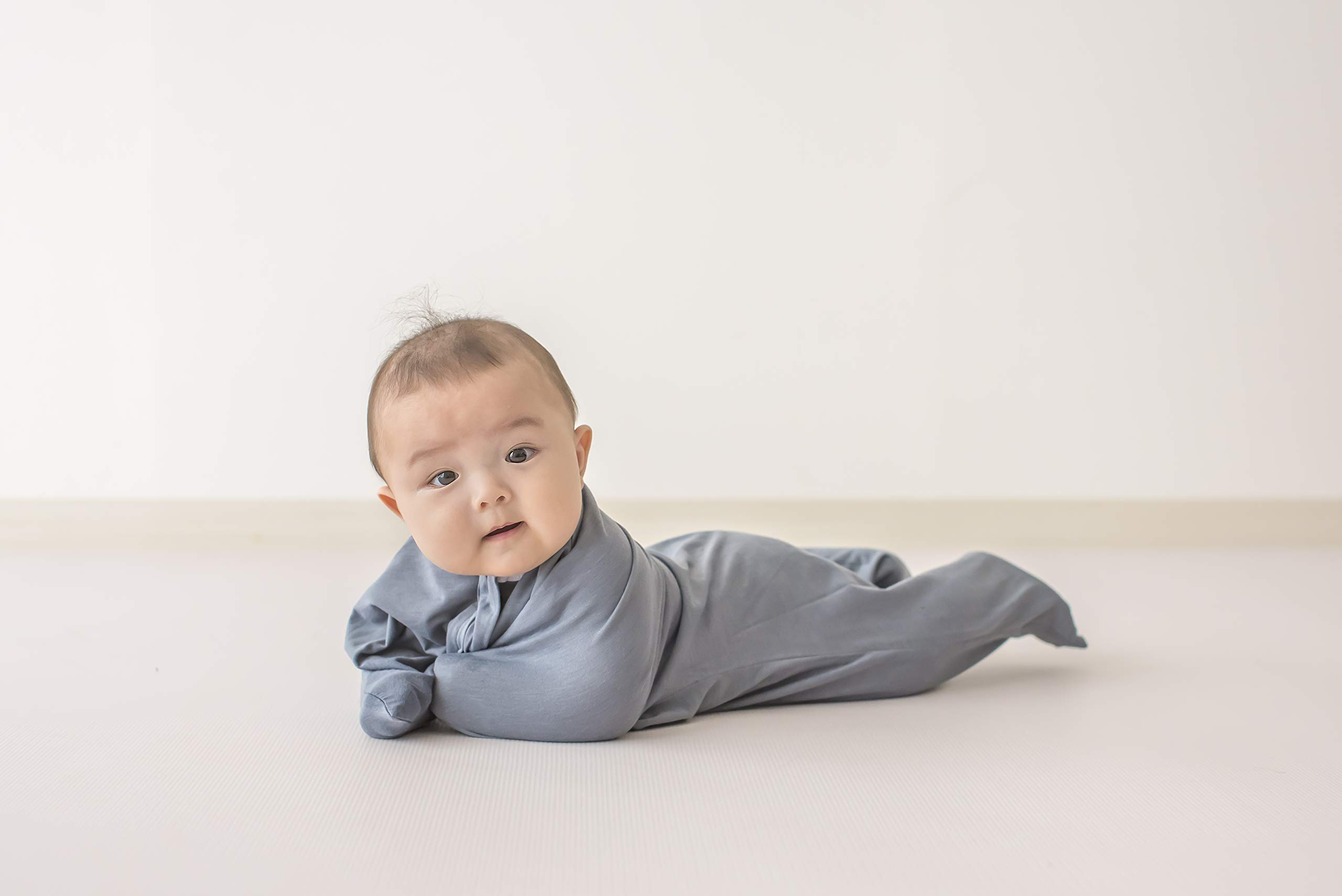 SleepingBaby Classic Zipadee-Zip Swaddle Transition Baby Swaddle Blanket with Zipper, Comforting Cozy Baby Swaddle Wrap and Baby Sleep Sack (Small 4-8 Months | 12-19 lbs, 25-29 inches| Classic Gray) by SleepingBaby