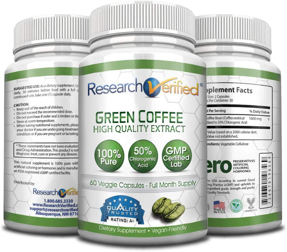 research verified green coffee bean extract