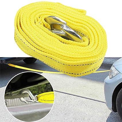 Cuerda de remolque 4 metros 5 toneladas de capacidad de rotura resistente correa de remolque de