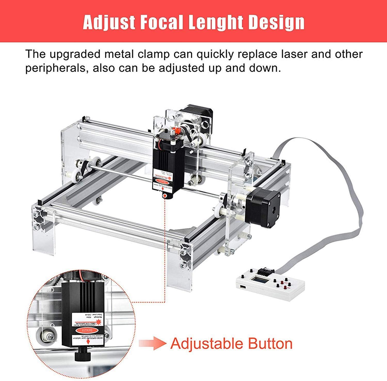 4YANG impresora l/áser Power Carving /& cortes con gafas Kit de m/áquina de carving USB Laser Engraver Carver ajustable ordenador de sobremesa