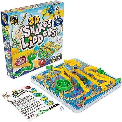 Play & Win Juego de Serpientes y escaleras 3D: Amazon.es: Juguetes y juegos