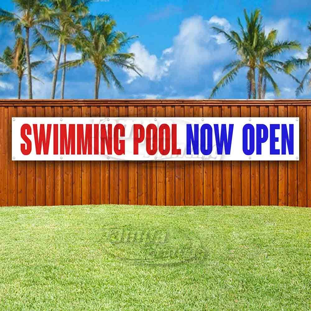 Flag, Advertising Many Sizes Available Store Swimming Pool Now Open Extra Large 13 oz Heavy Duty Vinyl Banner Sign with Metal Grommets New