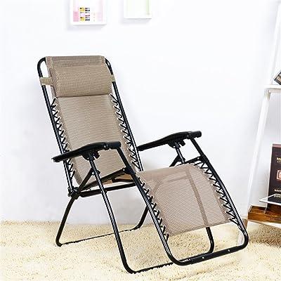 H Folding Recliner Office Break Chair Portable Family Outdoor Multi-Function Leisure Sun Lounger