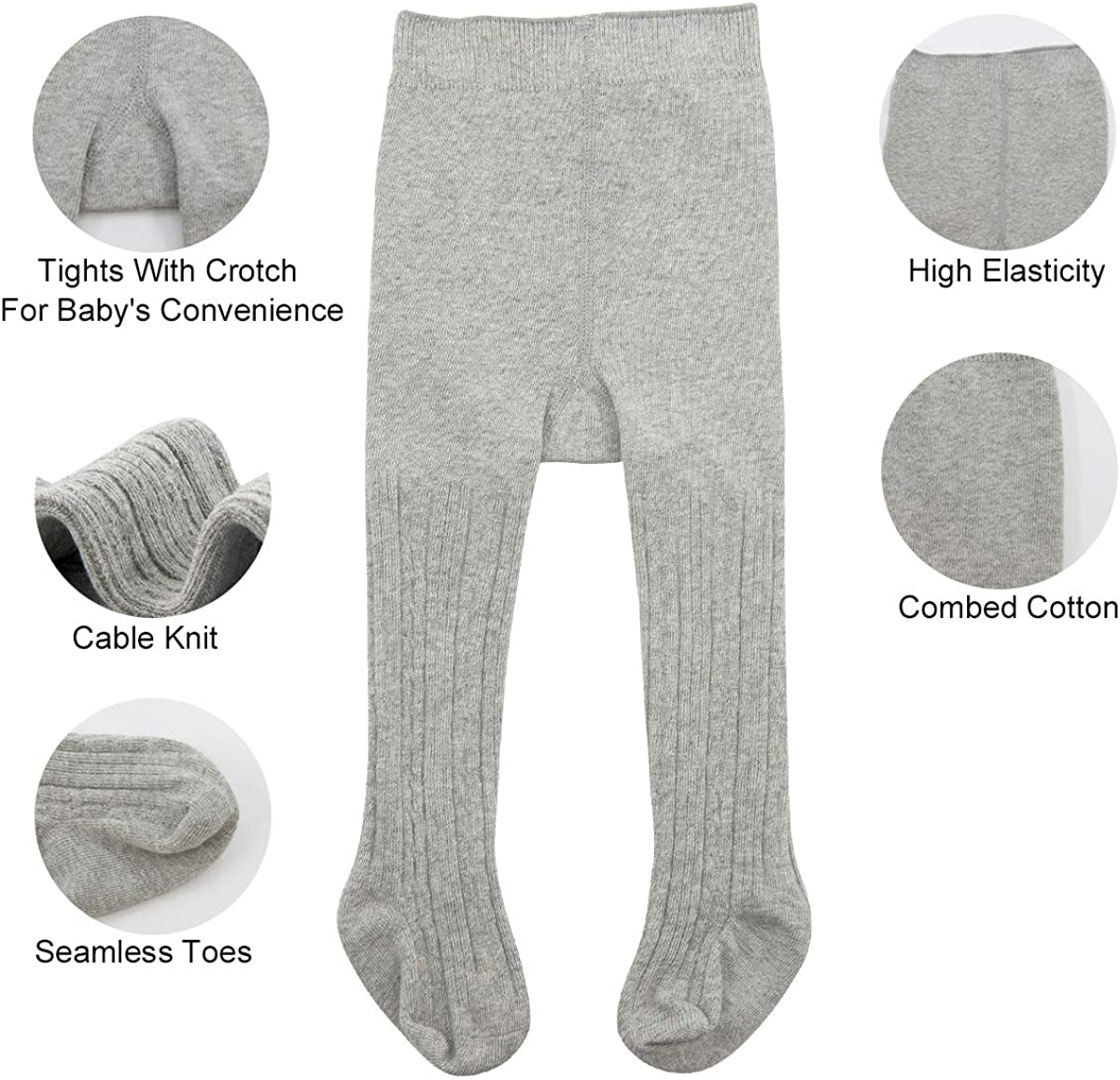Durio Baby Tights Solid Newborn Babies Clothing Leggings for Baby Girls Cable Knit Pantyhose Toddler Seamless Socks