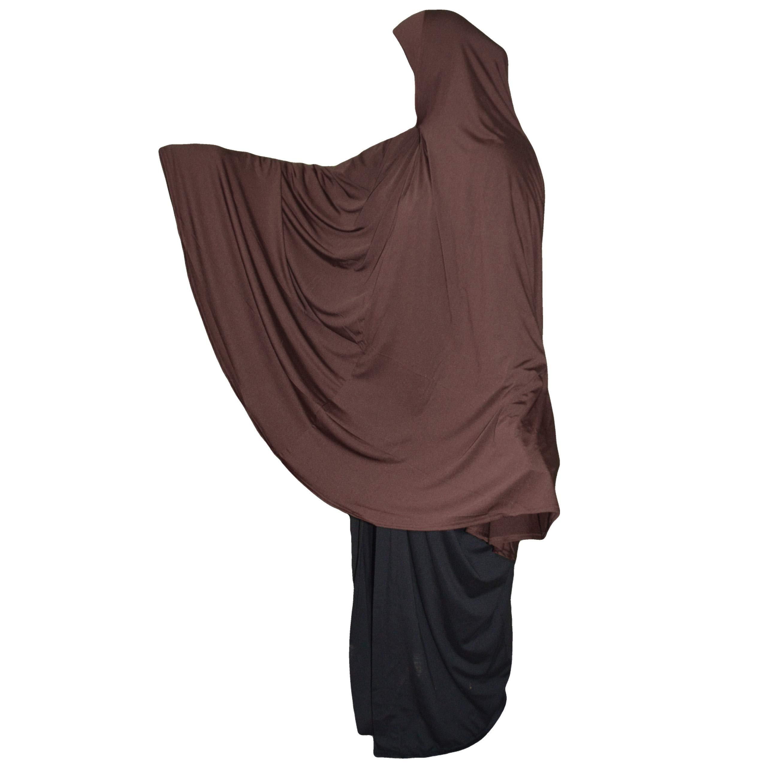 XL long Khimar ready made Hijab for Muslimah one piece stretchy headscarf Lycra material Chadors Arabia Islamic Prayer Dress Muslim Clothes Shawls Body Cover