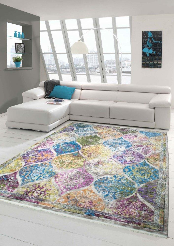 Designer und Moderner Teppich Vintage Marokkanisches Muster Multi Größe 160x230 cm