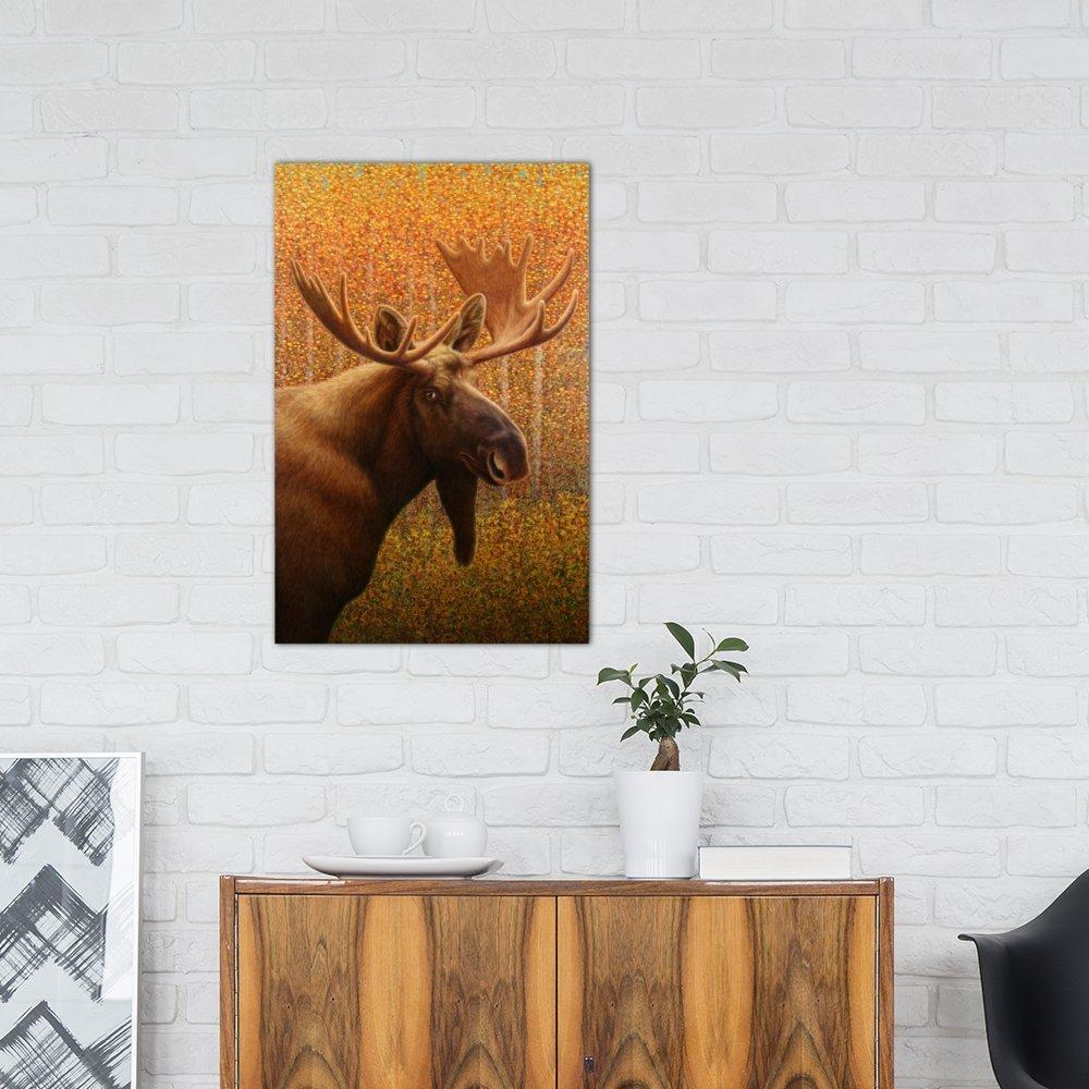 Johnson iCanvasART 3 Piece Moose Canvas Print by James W 60 x 40//0.75 Deep