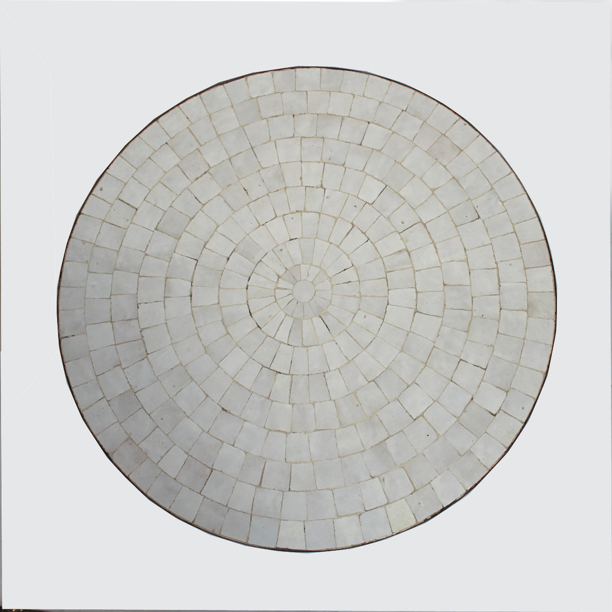 Round Mosaic Tile Side Table 24''
