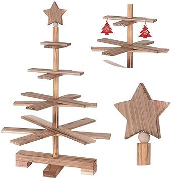 Spitze Für Tannenbaum.Amazon De Ls Lebenstil Holz Tannenbaum 55cm 4 Ebenen 10 Zweige