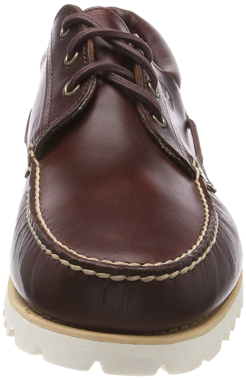 Amazon.com | Timberland Mens Chilmark 3 Eye Hands Leather Boat Shoes, Brown | Oxfords
