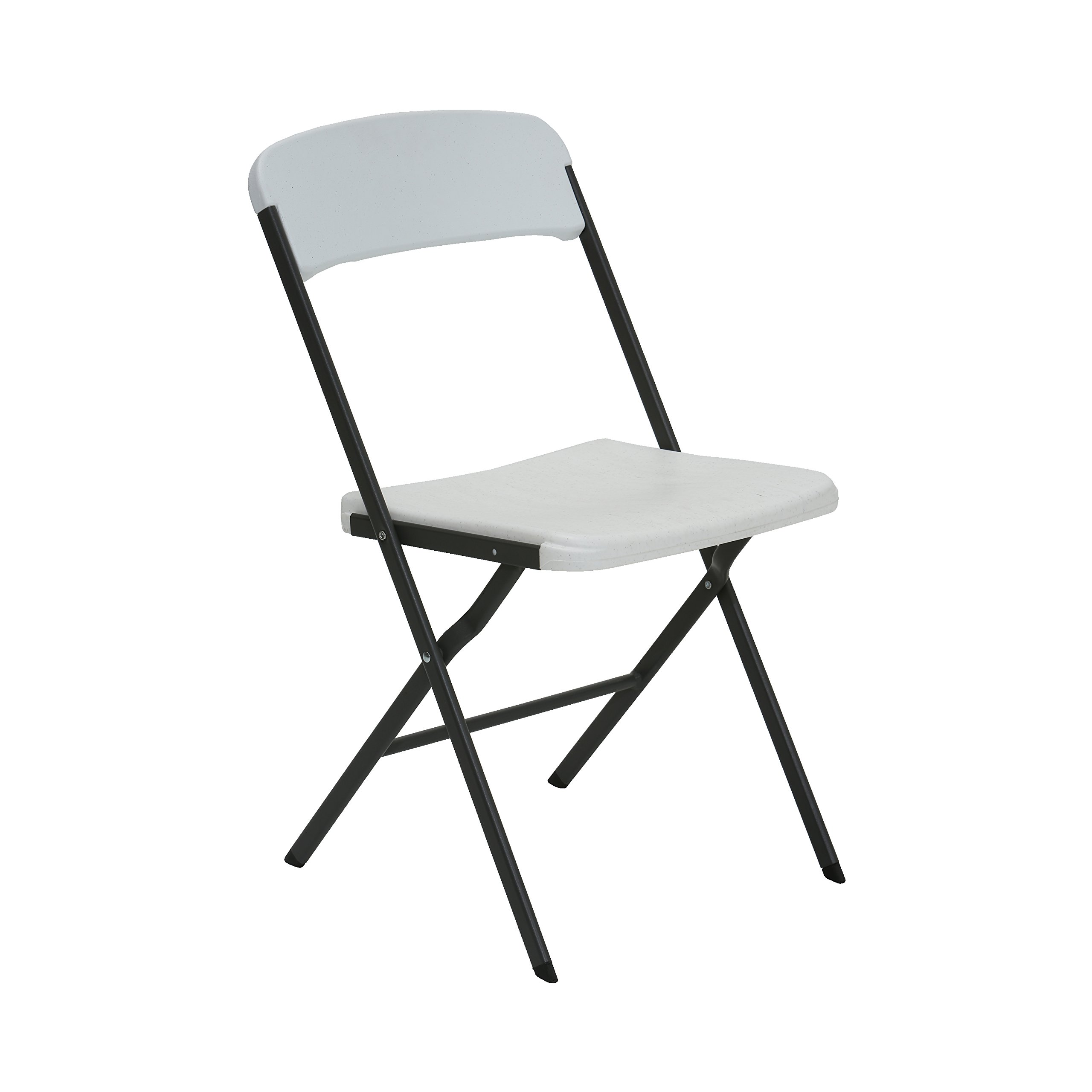 Lifetime 684016 ContemporaryResidentialFolding Chair, White Granite, Pack of 6 by Lifetime