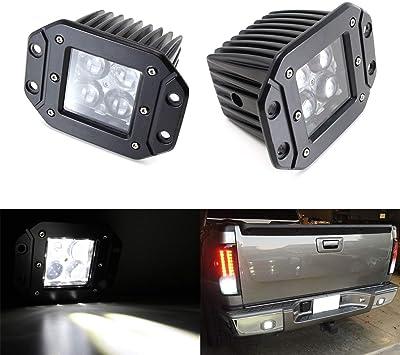 "2 x 3/"" Flush Mount Pods Led Cube Lamp Fog Reverse Lights For Jeep JK Ford Toyota"