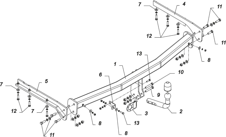 09//14- Faisceau Universel 7 Broches Col de Cygne Auto-Hak Attelage Suzuki Celerio