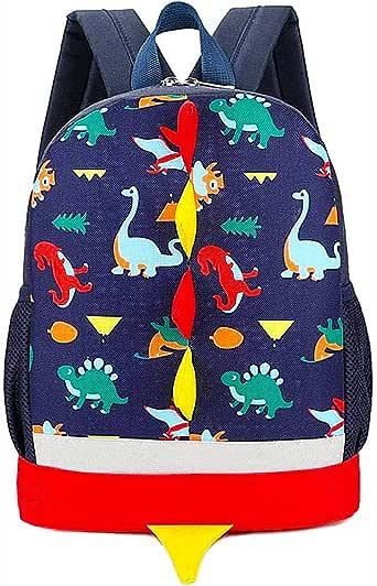 BETOY Mochila Infantil de Dinosaurios Mochila para Niños Infantil Guarderia Mochila Escolar (Azul Oscuro)