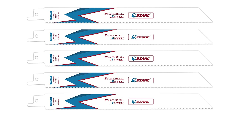EZARC Hojas de sierra sable R622PM para Corte de metales 14TPI 150mm (pack de 5) 802011