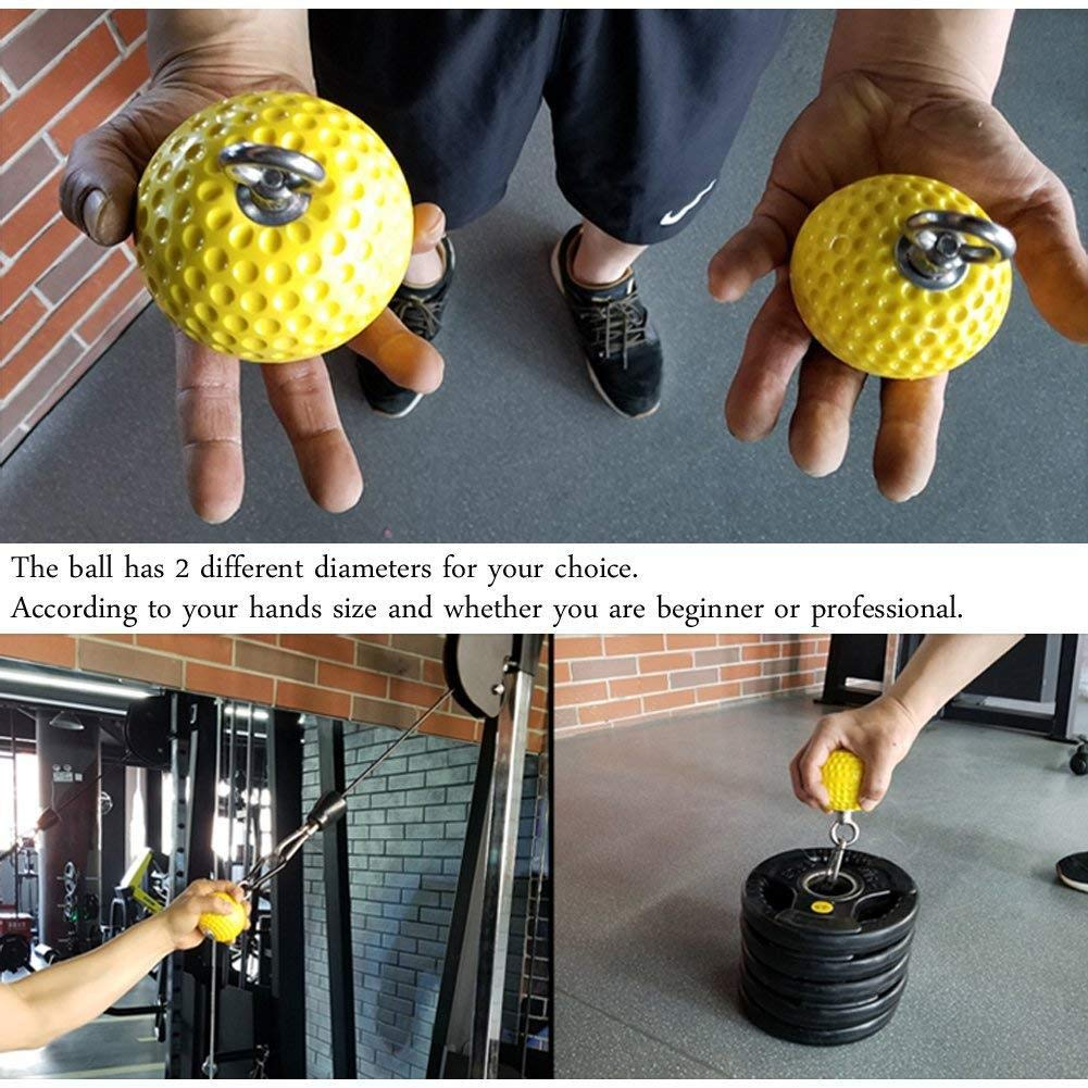 AITOCO Pull-up Ball Grips Cannonball for Gym Equipment to Increase Forearm Muscles and Grip Strength,Grip Strength Training and Climbing Training