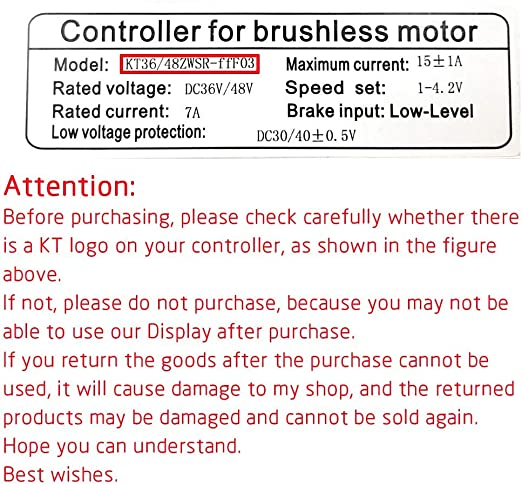 Brands RICETOO Electric Bicycle with USB Plug 24//36//48V KT-LCD7 Intelligent Display E-Bike LCD Control Panel SM Waterproof Accessories