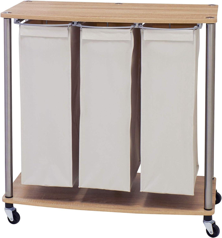 - Amazon.com: Household Essentials 7050-1 3 Bag Cart Light Brown