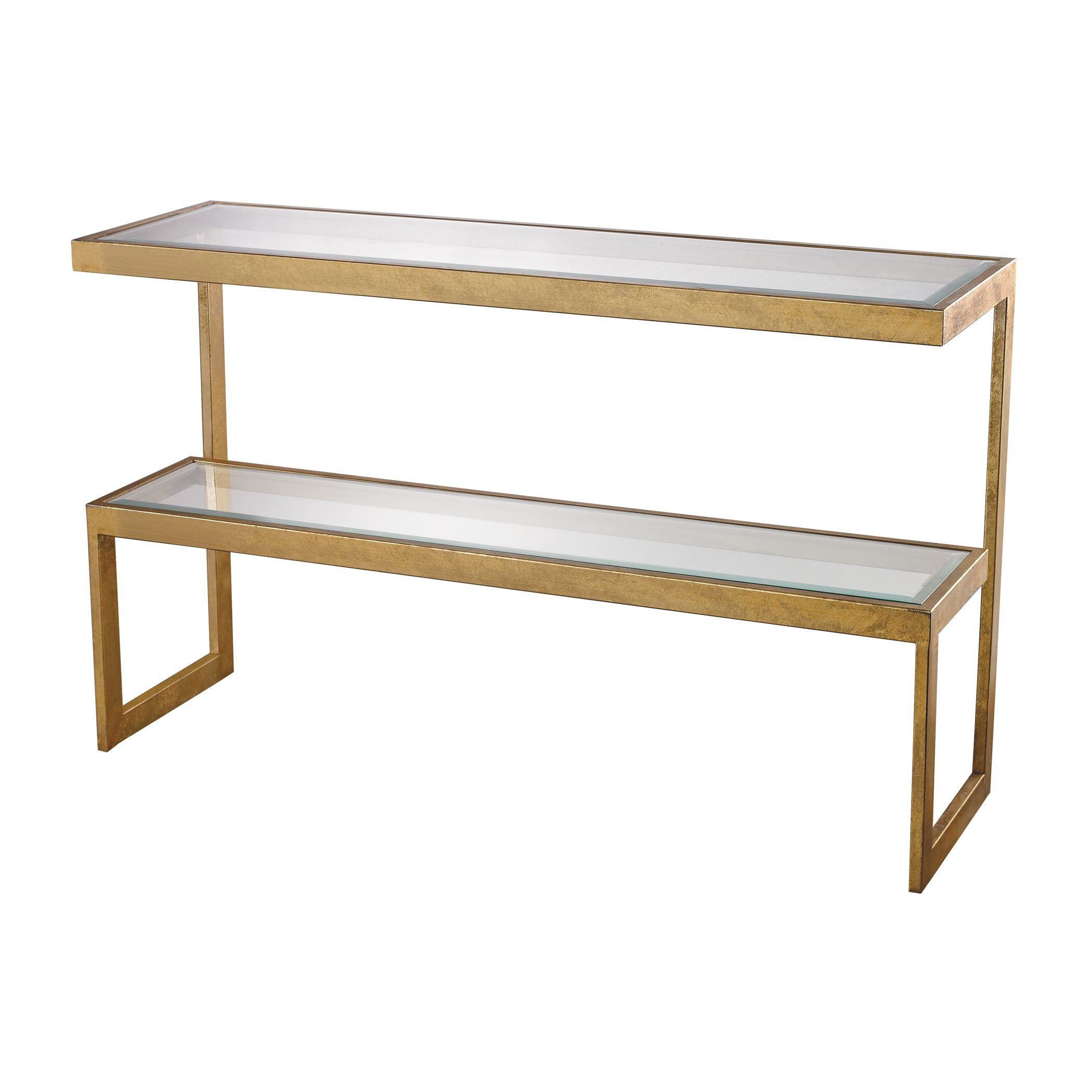 Dimond Home 114-145 Key Console Table, 54'' x 16'' x 33'', Gold Leaf