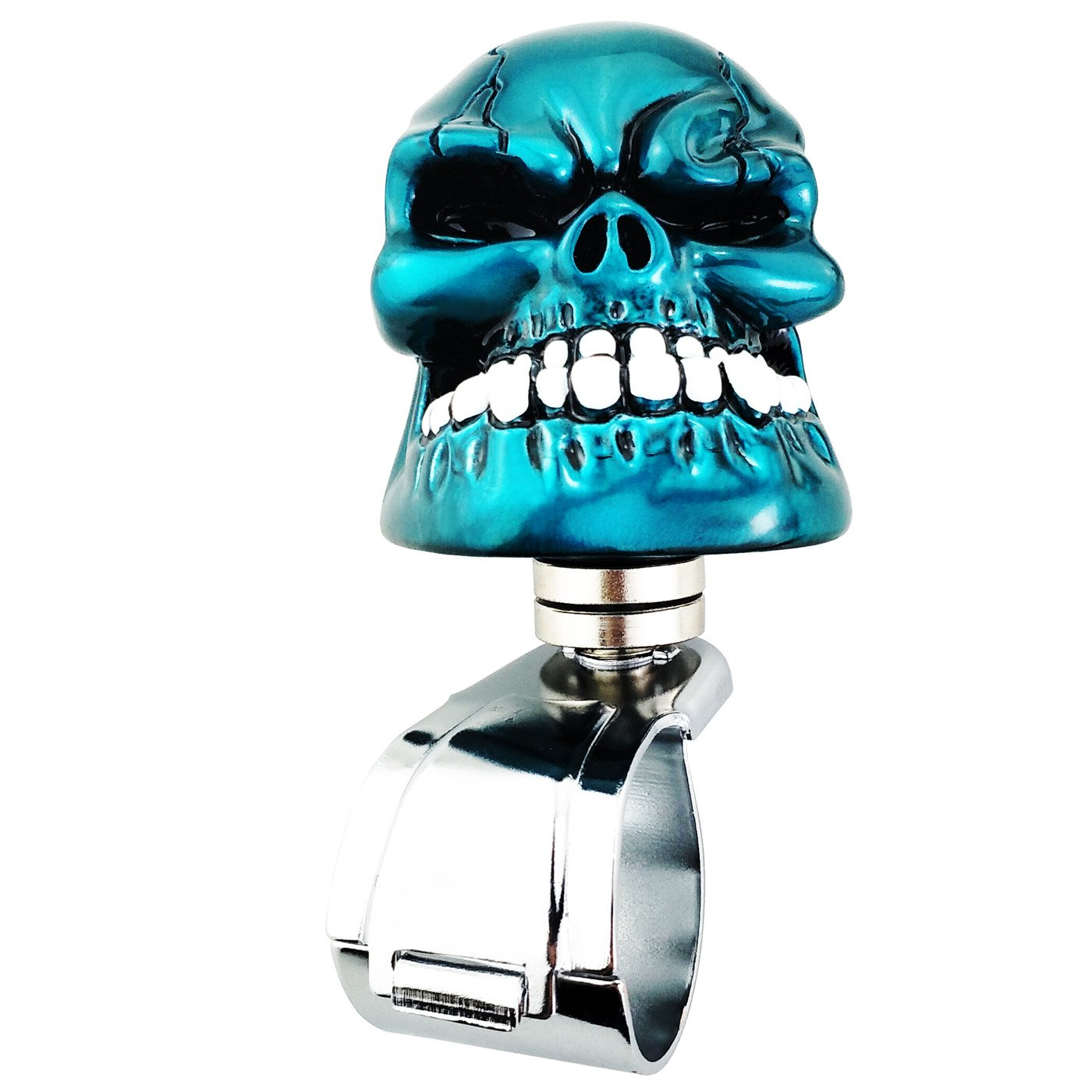 Amazon.com: Lensuntom Cool Power Handle Spinner Skull Steering Wheel ...