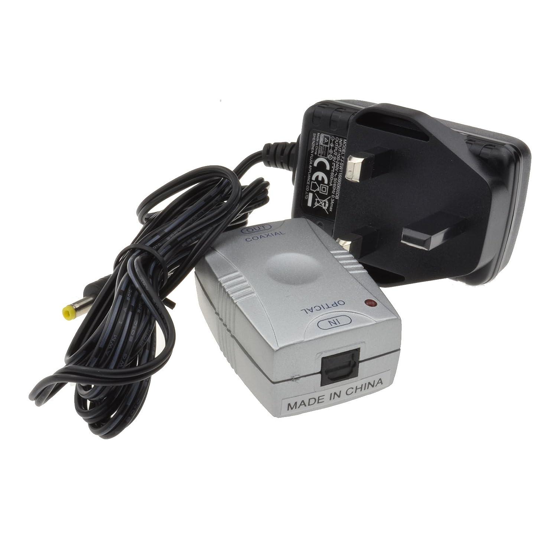 óptico TOS A Digital Audio Coax SPDIF Fono RCA Convertidor Adaptador: Amazon.es: Electrónica