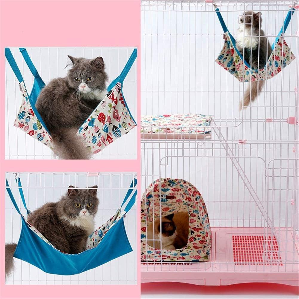 Gabbia per Criceti Cuccia Giocattoli della cavia Hamster House Cat Hammock Accessori per Gabbia per criceti Amache Furetto Letti per Gatti Pink