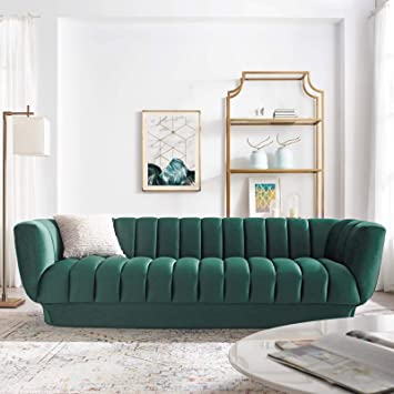 Swell Modway Eei 3351 Grn Entertain Vertical Channel Tufted Performance Velvet Sofa Green Gmtry Best Dining Table And Chair Ideas Images Gmtryco