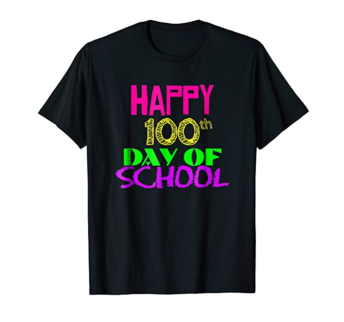 Happy 100th día de escuela playera 100 días para profesor ... 5b5d8be4de57c