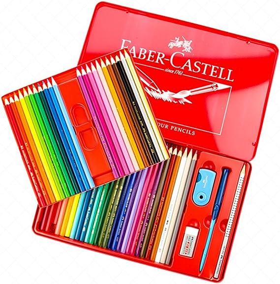 Faber-Castell Ozavo 24 36 48 - Lápices de colores en estuche de metal, color 48 Rot: Amazon.es: Juguetes y juegos