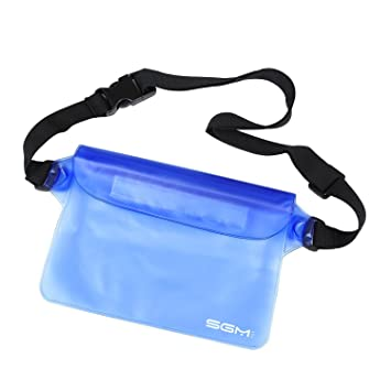 Amazon.com : SGM (TM) Waterproof Pouch with Waist Strap for Beach ...