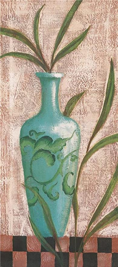Amazon Oil Painting A Vase With Green Pattern 30 X 68 Inch