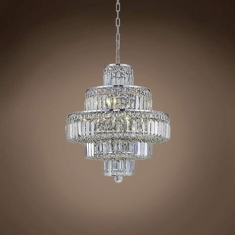 Amazon.com: Milan - Lámpara de techo con cristales ...