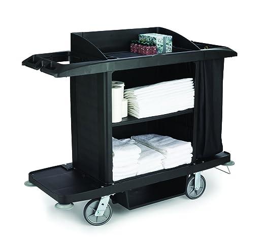 Rubbermaid FG619000 - Carro de limpieza para hotel, negro: Amazon.es: Industria, empresas y ciencia