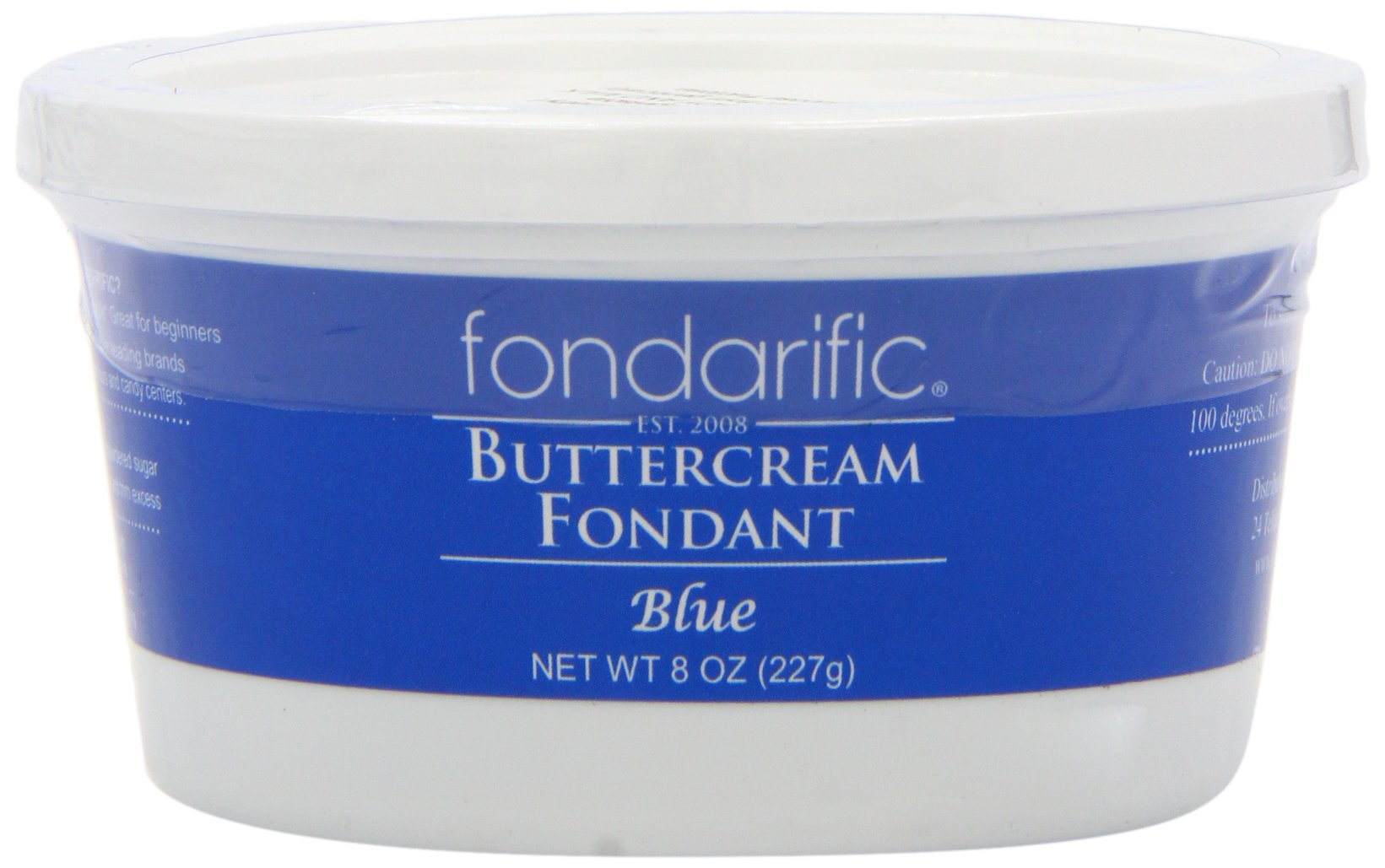 Fondarific Buttercream Fondant, Blue, 8 Ounce