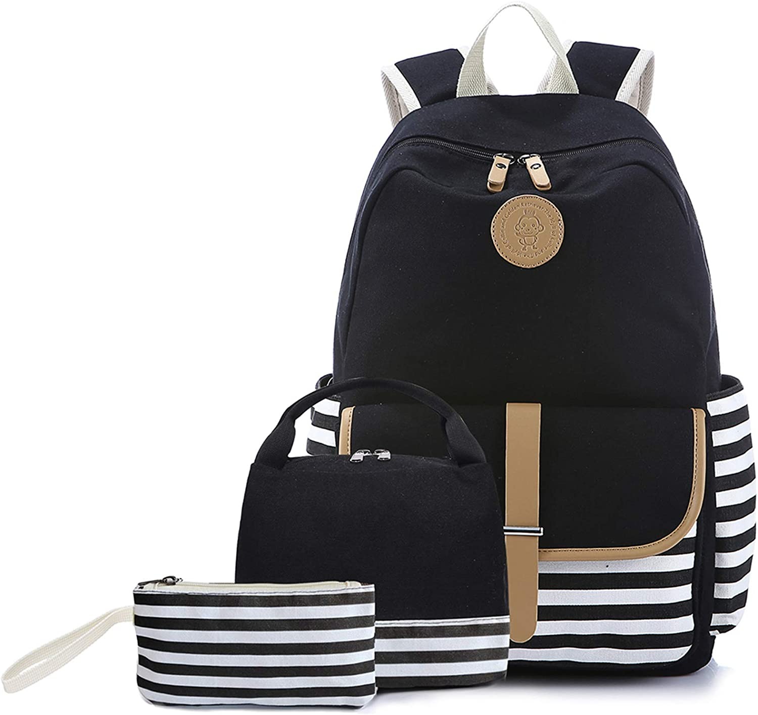Sqodok Backpack for Women College, Girls Bookbag with Lunch Bag and Pencil Case