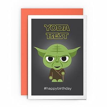 Geburtstagskarte Mit Einem Lustigen Yoda Und Der Aufschrift Yoda