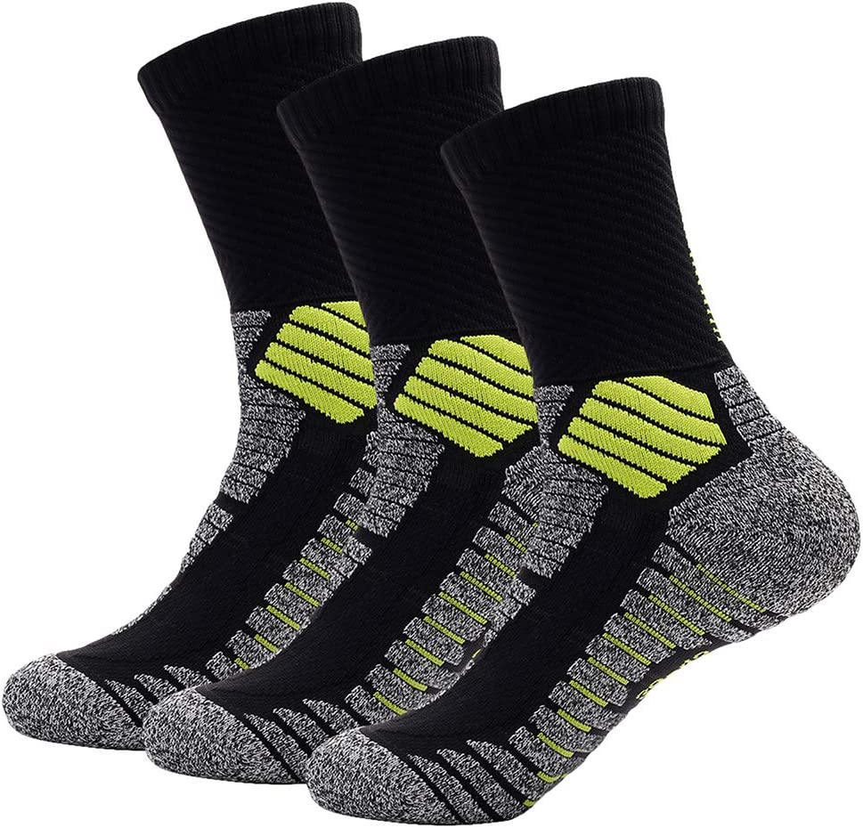 Deyuan Elite Basketball Socks, Cushioned Athletic Thick Crew Socks, Sports Performance Socks for Men & Women