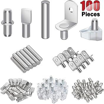 mueble de armario soporte para estantes forma de cuchara 5 mm 120 paquetes de alfileres para estantes