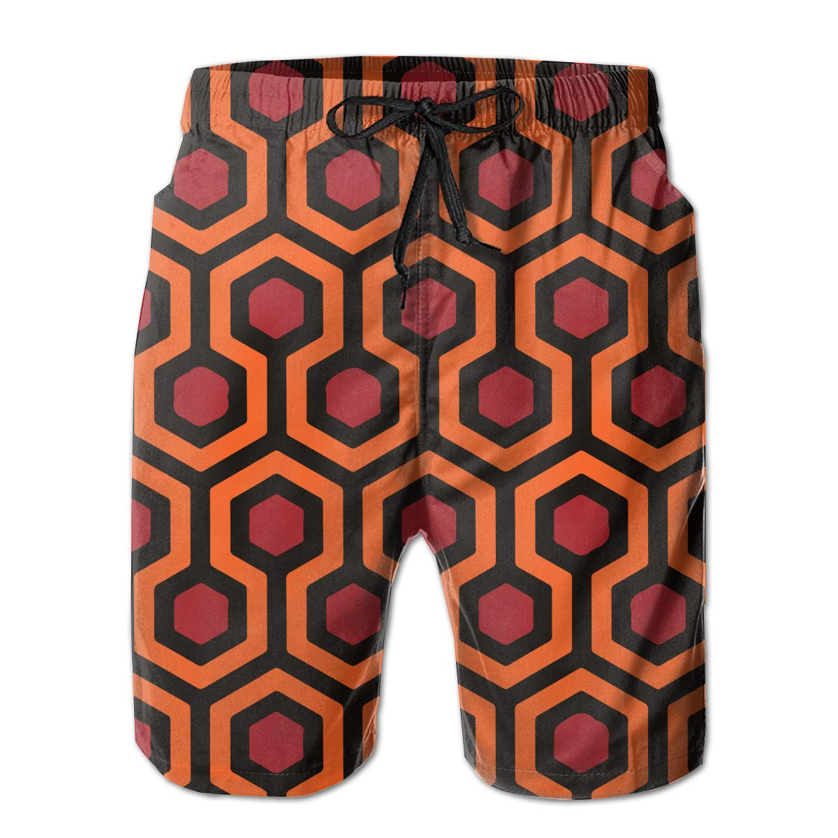 JIA LI Mens Board Shorts Shining Carpet Pattern Summer Printed Quick-Dry Swim Trunks Beach Shorts