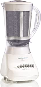 Hamilton Beach Blender with 56 oz Jar & Aguas Fresca Strainer, White (50162)